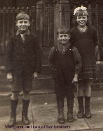 Margaret and two of her brothers