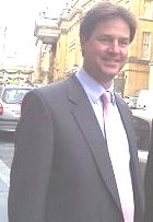 Nick Clegg with pinkish tie