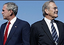 Bush and Rumsfeld: parting of the ways