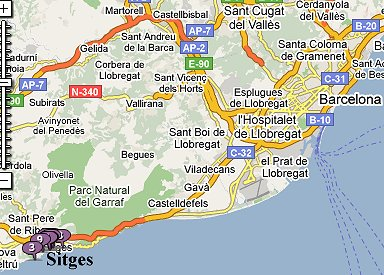 Sitges to Barcelona